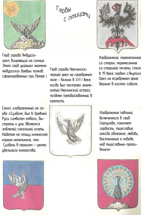 Гербы с птицами